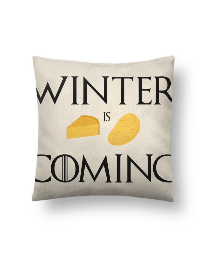 Cushion suede touch 45 x 45 cm Winter is coming by Ruuud
