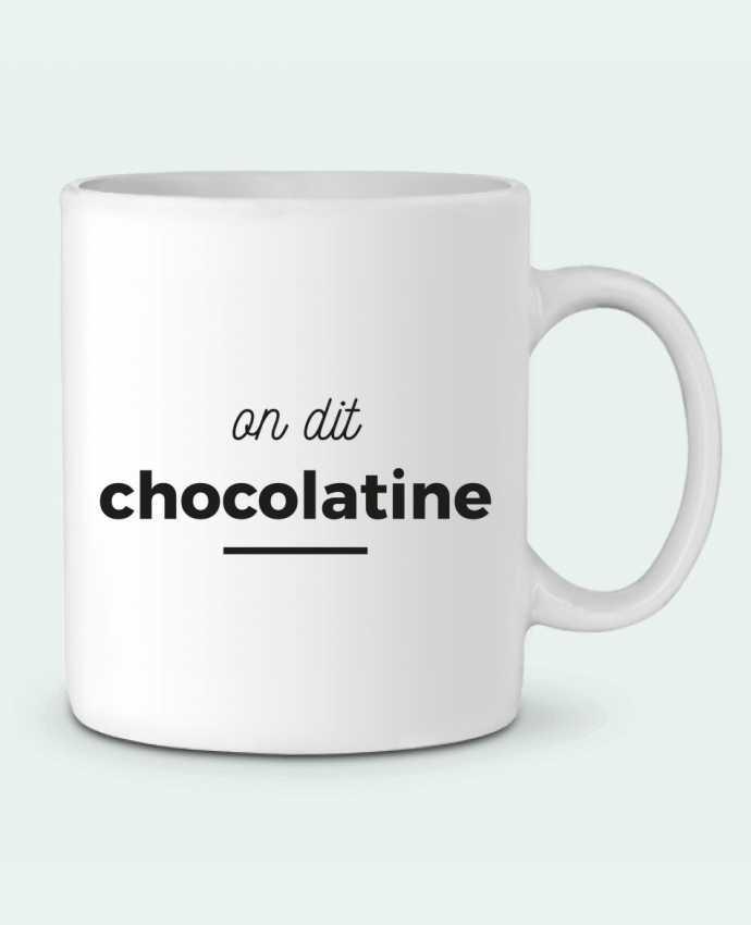Ceramic Mug On dit chocolatine by Ruuud