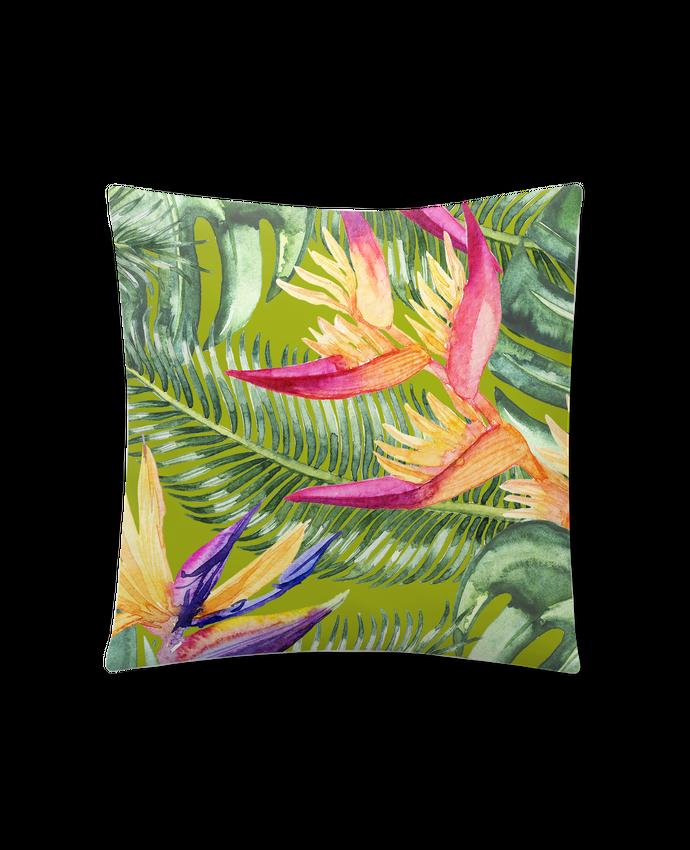 Cushion synthetic soft 45 x 45 cm Fleurs exotiques by Les Caprices de Filles