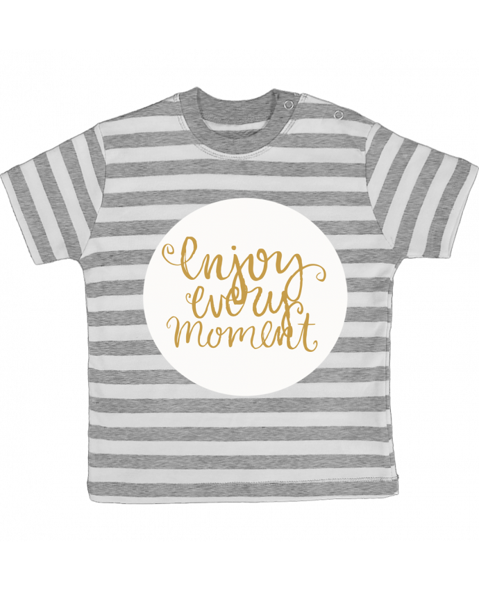 T-shirt baby with stripes Enjoy every moment by Les Caprices de Filles