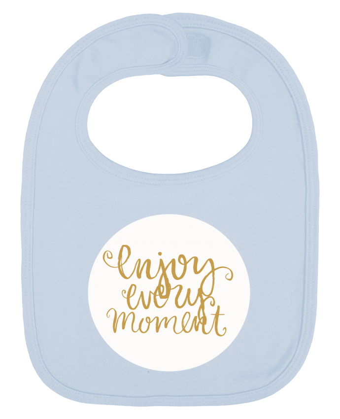 Baby Bib plain and contrast Enjoy every moment by Les Caprices de Filles