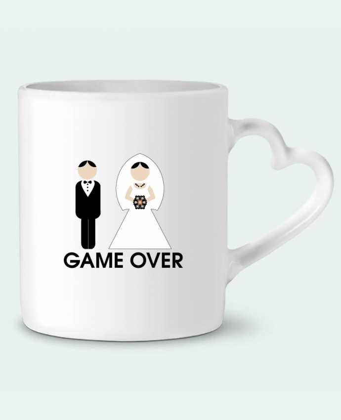 Mug Heart game over mariage by DUPOND jee
