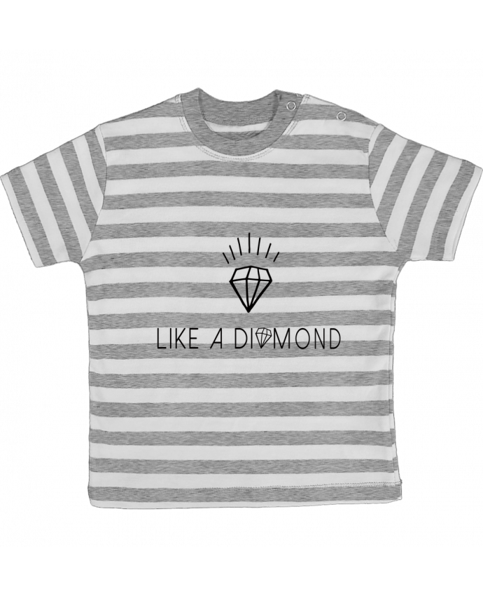 T-shirt baby with stripes Like a diamond by Les Caprices de Filles