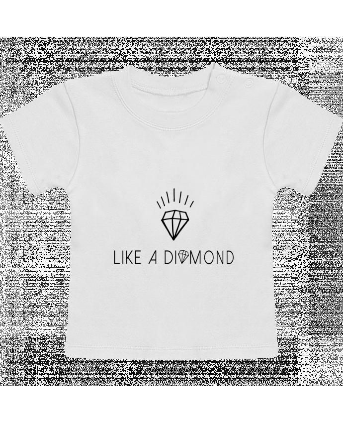 T-Shirt Baby Short Sleeve Like a diamond manches courtes du designer Les Caprices de Filles