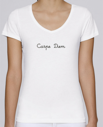 T-Shirt V-Neck Women Stella Chooses Carpe Diem by Les Caprices de Filles