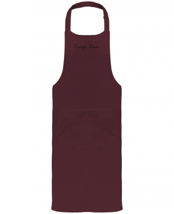 Garden or Sommelier Apron with Pocket Carpe Diem by Les Caprices de Filles