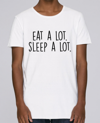 T-shirt Men Oversized Stanley Skates Eat a lot. Sleep a lot. by Bichette