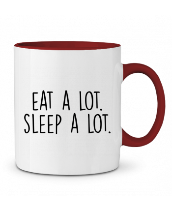 Two-tone Ceramic Mug Eat a lot. Sleep a lot. Bichette