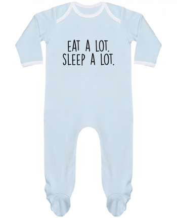 Baby Sleeper long sleeves Contrast Eat a lot. Sleep a lot. by Bichette