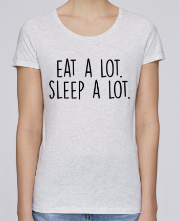 T-shirt Women Stella Loves Eat a lot. Sleep a lot. by Bichette