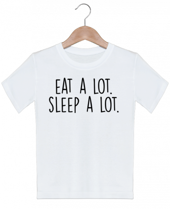 T-shirt garçon motif Eat a lot. Sleep a lot. Bichette