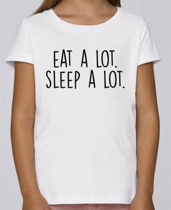 T-shirt Women Stella Draws Eat a lot. Sleep a lot. by Bichette