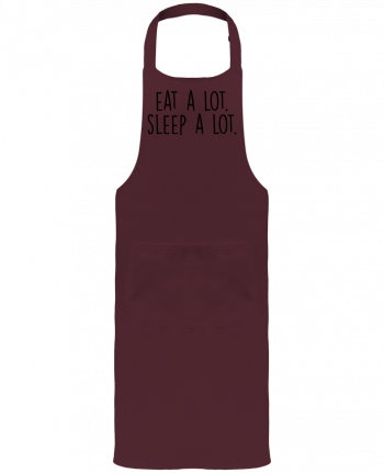 Garden or Sommelier Apron with Pocket Eat a lot. Sleep a lot. by Bichette