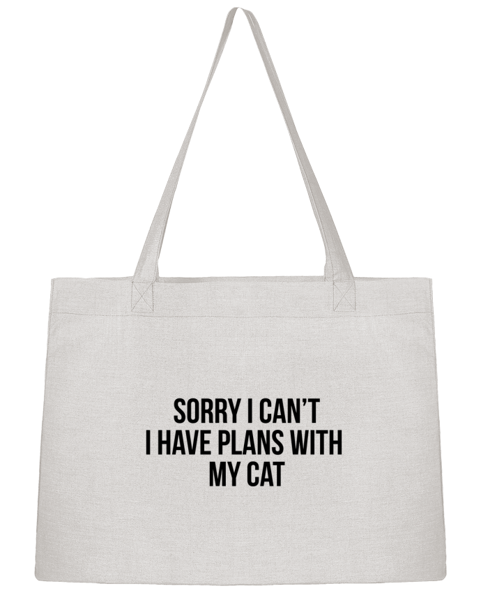Shopping tote bag Stanley Stella Sorry I can't I have plans with my cat by Bichette