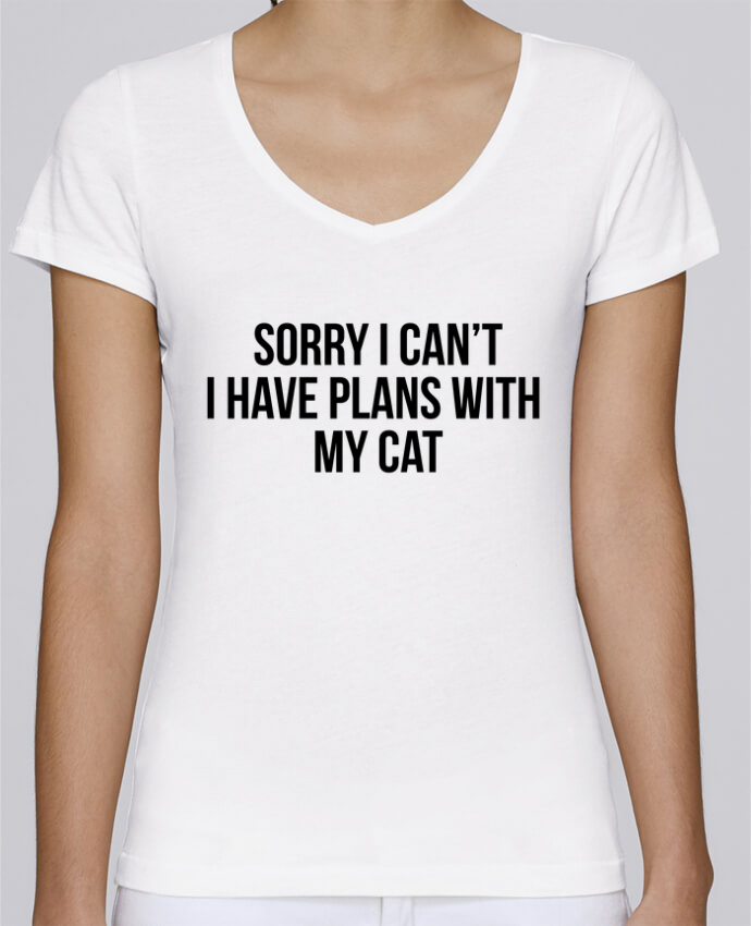 T-Shirt V-Neck Women Stella Chooses Sorry I can