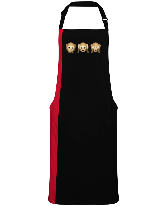 Two-tone long Apron Three monkeys by  Bichette