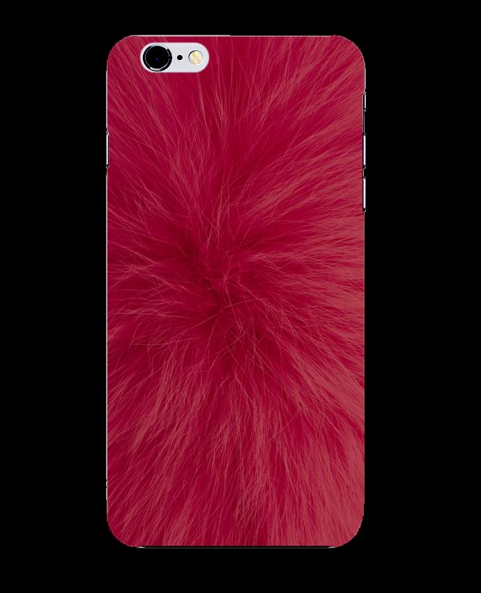 Case 3D iPhone 6+ Fourrure bordeaux de Les Caprices de Filles