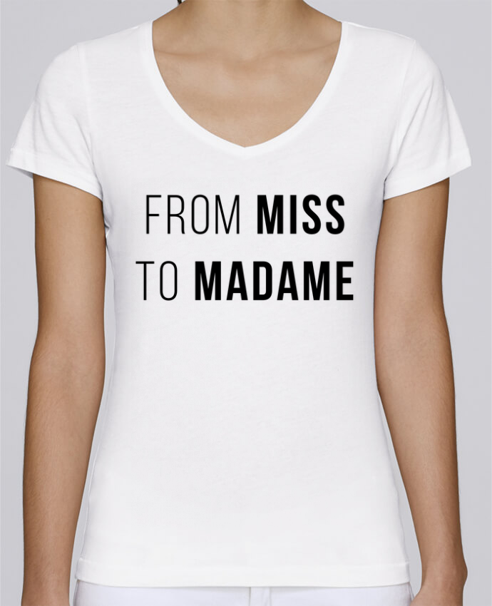 T-Shirt V-Neck Women Stella Chooses From Miss to Madam by Bichette