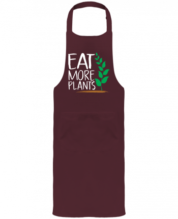 Garden or Sommelier Apron with Pocket Eat more plants by Bichette