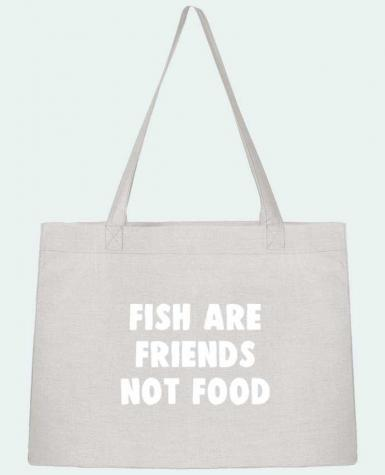 Shopping tote bag Stanley Stella Fish are firends not food by Bichette