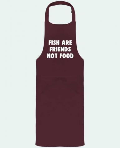 Garden or Sommelier Apron with Pocket Fish are firends not food by Bichette
