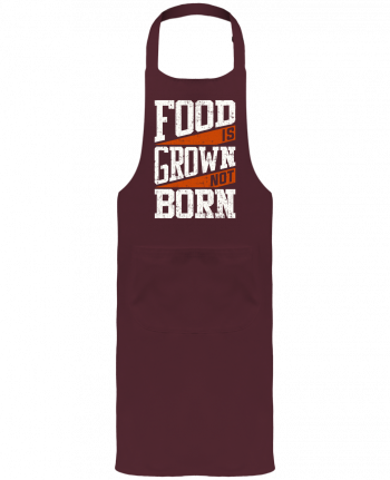 Garden or Sommelier Apron with Pocket Food is grown not born by Bichette
