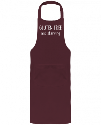 Garden or Sommelier Apron with Pocket Gluten free and starving by Bichette