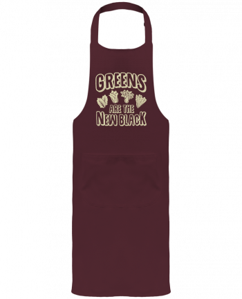 Garden or Sommelier Apron with Pocket Greens are the new black by Bichette