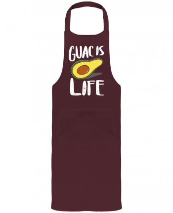 Garden or Sommelier Apron with Pocket Guac is life by Bichette