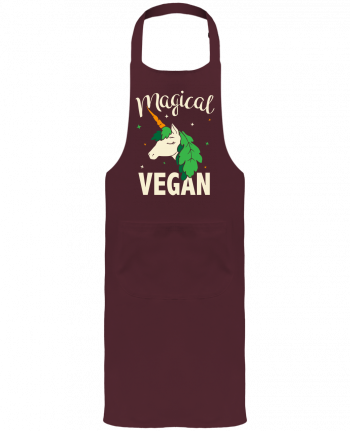 Garden or Sommelier Apron with Pocket Magical vegan by Bichette