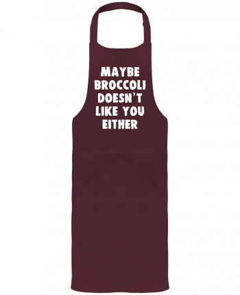 Garden or Sommelier Apron with Pocket Maybe broccoli doesn't like you either by Bichette