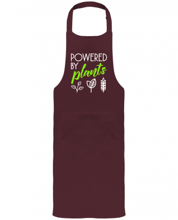 Garden or Sommelier Apron with Pocket Powered by plants by Bichette