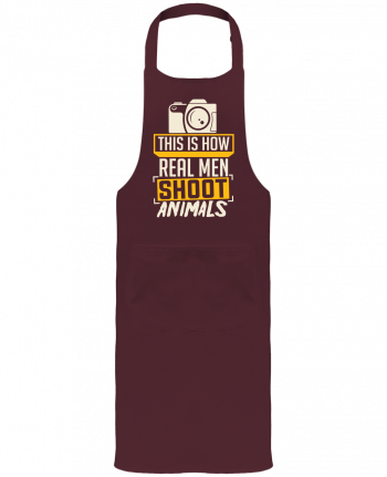 Garden or Sommelier Apron with Pocket This is how real men shoot animals by Bichette