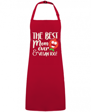 Apron no Pocket The best mom ever & vegan too by  Bichette