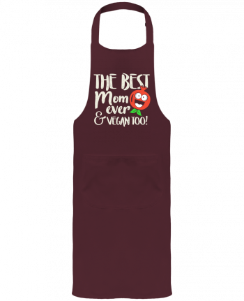 Garden or Sommelier Apron with Pocket The best mom ever & vegan too by Bichette