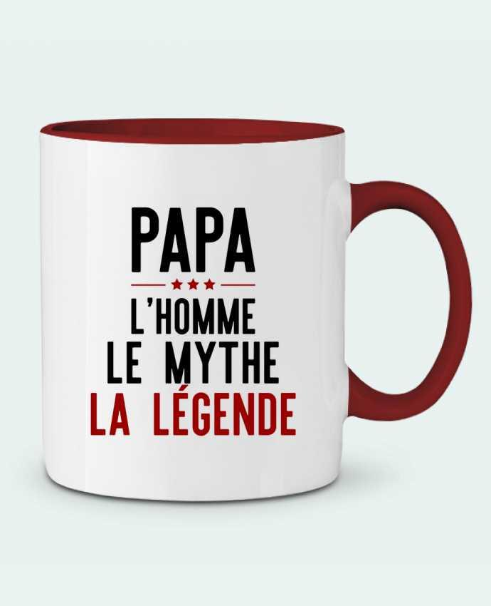 Two-tone Ceramic Mug Papa la légende cadeau Original t-shirt