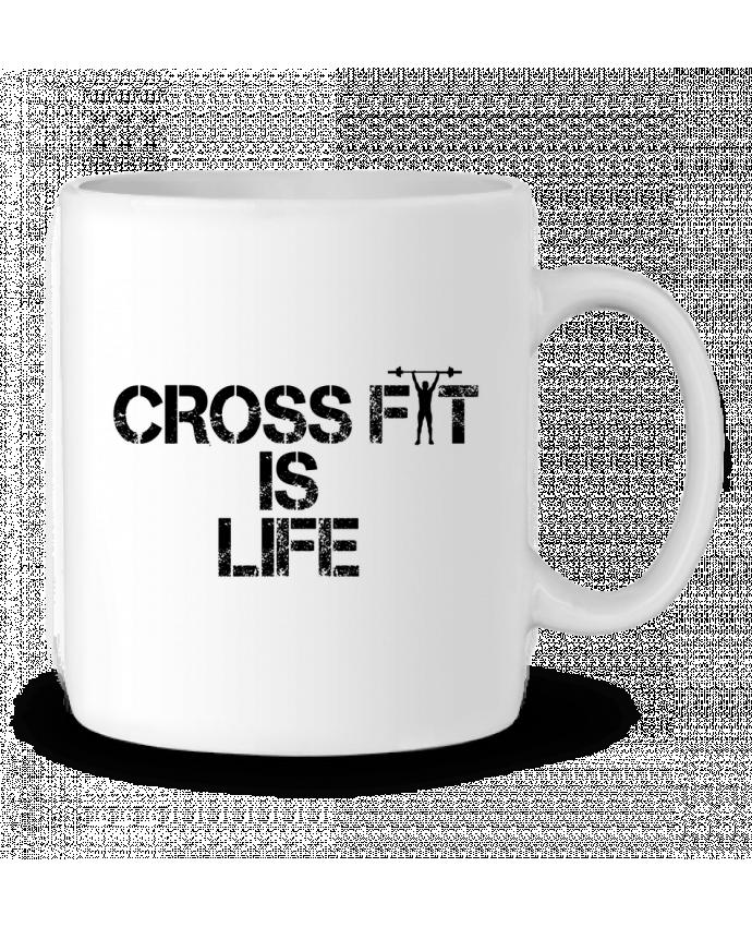 Ceramic Mug Crossfit is life by tunetoo