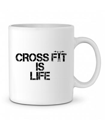Ceramic Mug Crossfit is life by tunetoo