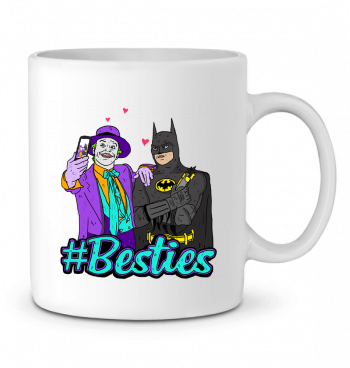 Ceramic Mug #Besties Batman by Nick cocozza