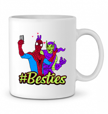 Ceramic Mug #Besties Spiderman by Nick cocozza