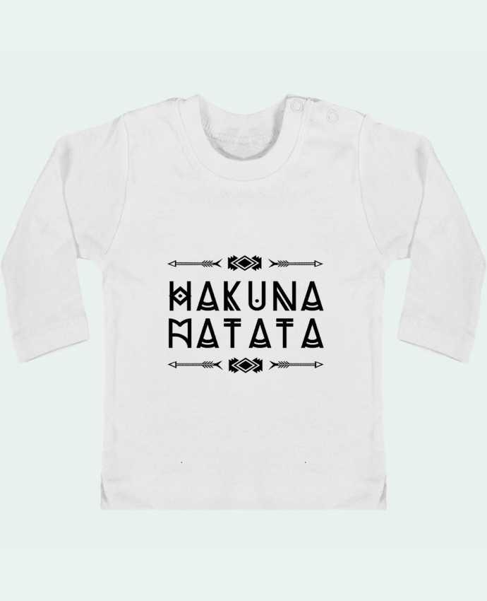 Baby T-shirt with press-studs long sleeve hakuna matata manches longues du designer DesignMe