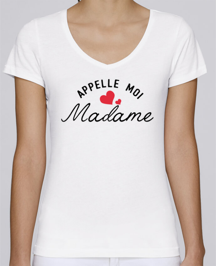 T-Shirt V-Neck Women Stella Chooses Appelle moi madame by tunetoo