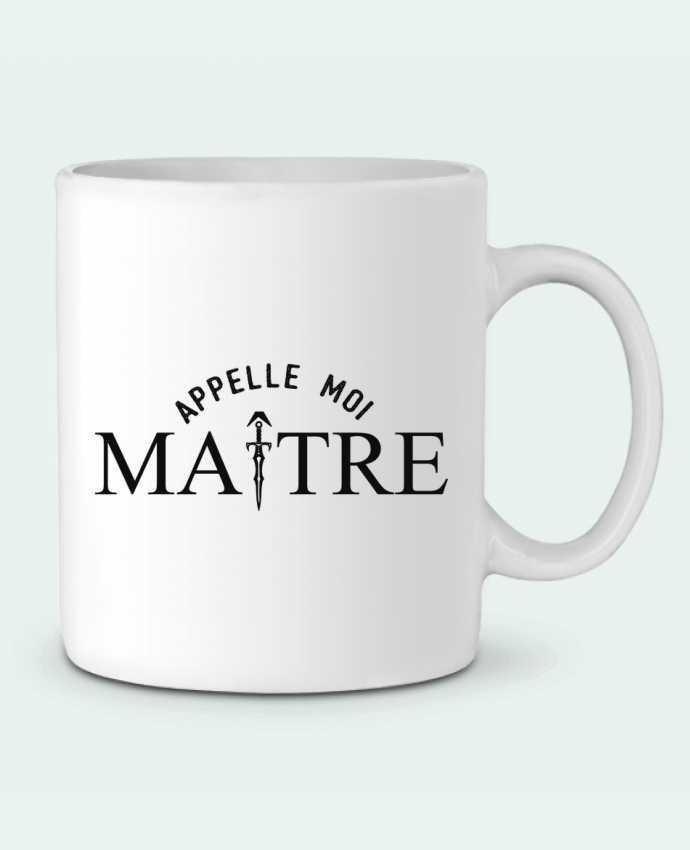 Ceramic Mug Appelle moi maître by tunetoo