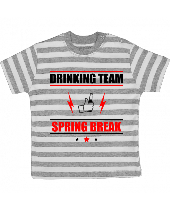 T-shirt baby with stripes Drinking Team Spring Break by Benichan