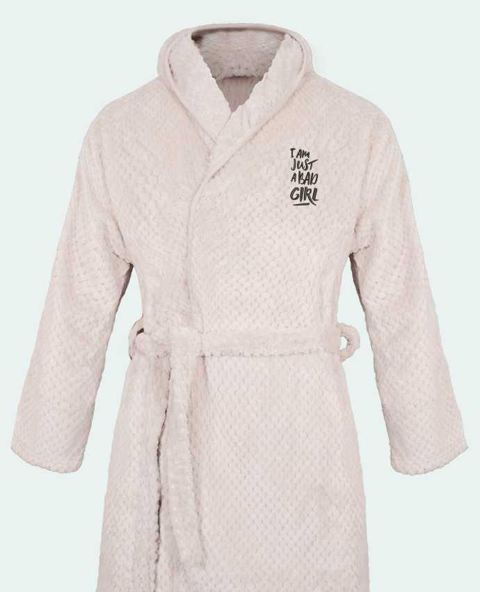 Bathrobe Women Soft Coral Fleece I am just a bad girl by tunetoo