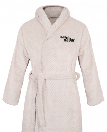 Bathrobe Women Soft Coral Fleece Outfit of the day by tunetoo