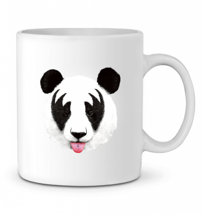 Ceramic Mug Kiss of a panda by robertfarkas
