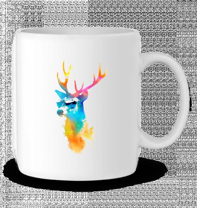 Ceramic Mug Sunny stag by robertfarkas
