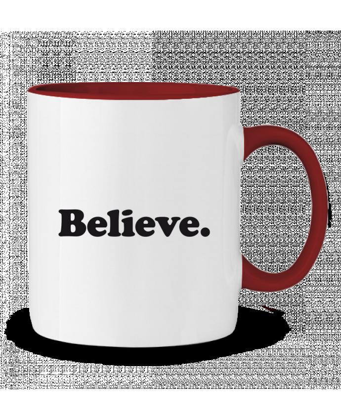 Two-tone Ceramic Mug Believe justsayin
