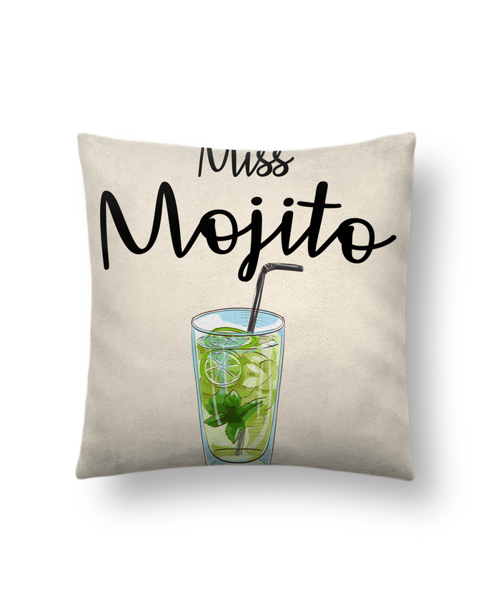 Cushion suede touch 45 x 45 cm Miss Mojito by FRENCHUP-MAYO